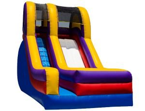 The 18' Waterworks Slide, birthday party activities for kids.