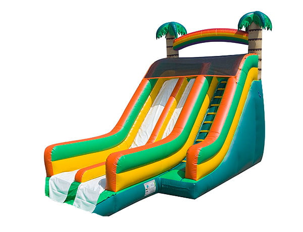 21' Big Tropical Wave Waterslide for outdoor event plans bounce house rental deals