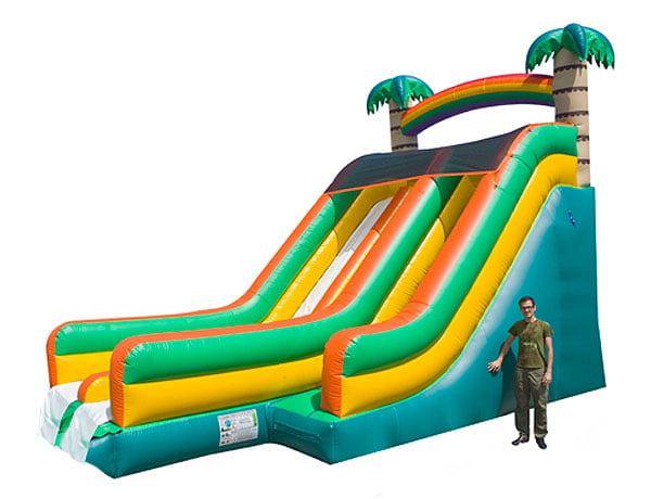21u0027 big tropical waterslide water bounce house for backyard cookout ideas - Blow Up Water Slides