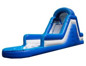 Blue Rush Waterslide bouncehouse rental idea for kids birthday party