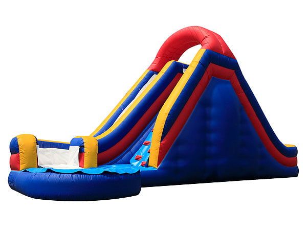 Infinity Waterslide Bounce House to rent for Pool Party Ideas, School Festivals