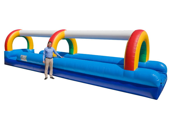 Rainbow Slide N Splash Rental for pool party activities