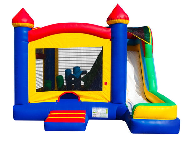 5 in 1 Castle Combo Inflatable jump house bounce house to rent,  Bouncehouse, Castle