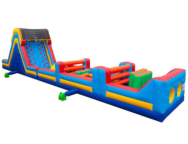 65' Obstacle Course Inflatable Moon Bouncer Rental Jumper,  Package Deals