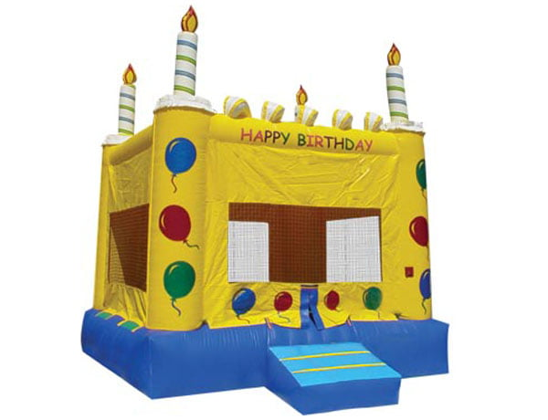Happy Birthday Cake Party Bouncehouse Kicks and Giggles USA The