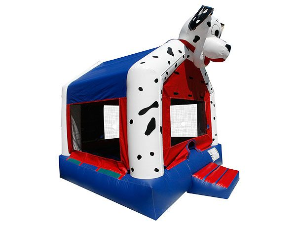 Dalmation inflatable moonbounce rental for activities for community events,  Bouncehouse, Dalmatian, Dog, Firefighter, Firehouse, Fireman