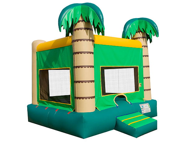 Palm Tree beach theme adult bounce house to rent,  Beach, Bouncehouse, Hawaiian, Luau, Spongebob, Tropical