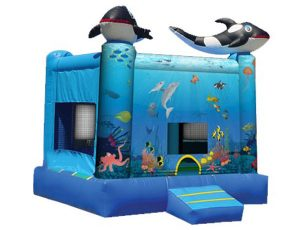 Under the Sea Bouncer Moonwalk for outdoor party ideas,  Bouncehouse, Ocean, Sea