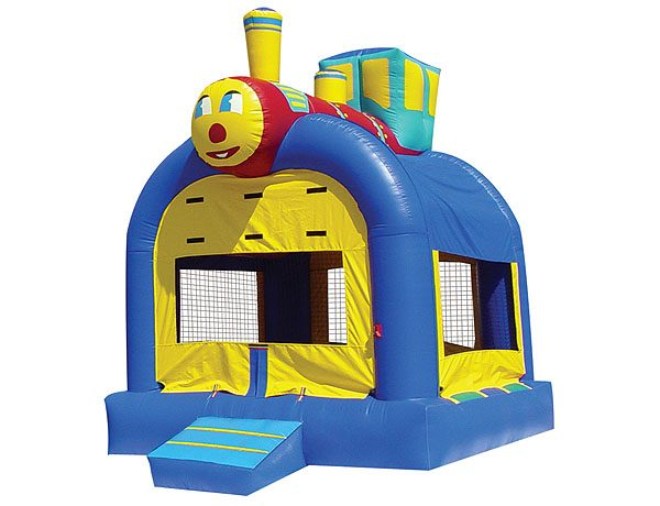 Train bouncey house inflatable bouncey ideas for kids party for boys,  Bouncehouse, Train