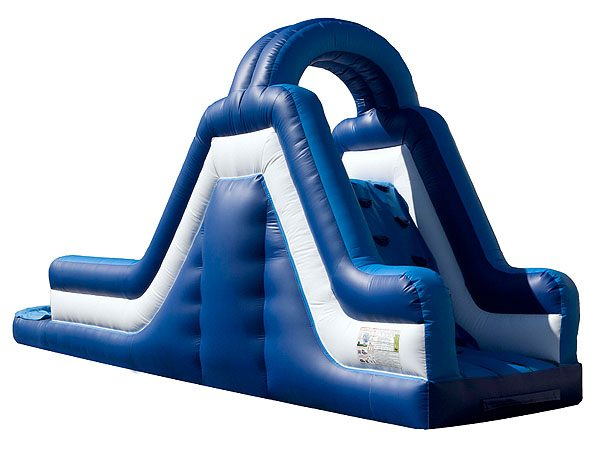 Blue Rush inflatable water slide for kids birthday party activities,  Inflatable Slide, Kids, Single Lane, Water Fun, Waterslide
