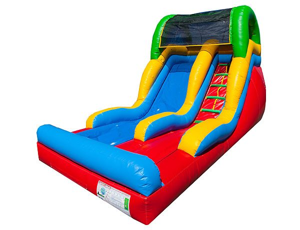 12' Toddler Fun Slide bounce house waterslide for 4th of July party activities,  Inflatable Slide, Kids, Single Lane, Water Fun, Waterslide