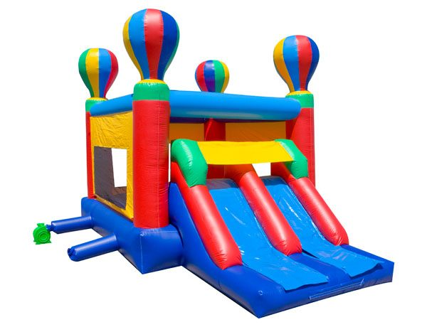 Dual Hot Air Bounce bouncer with slide to rent Fuquay Varina Cary Durham NC,  Bouncehouse, Hot Air Balloon