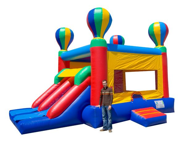 Dual Hot Air Balloon inflatable slide and bounce rentals Greensboro NC,  Bouncehouse, Hot Air Balloon