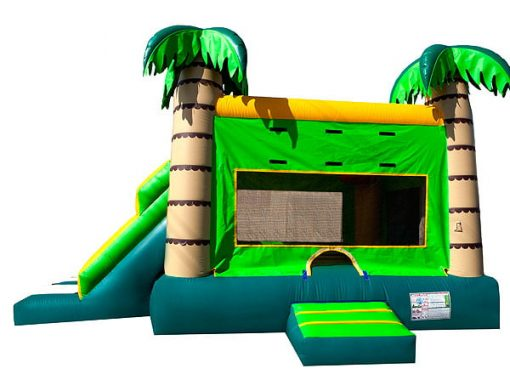 Dual Tropical Bounce House Slide Combo beach theme party Burlington NC,  Beach, Bouncehouse, Hawaiian, Luau, Spongebob, Tropical