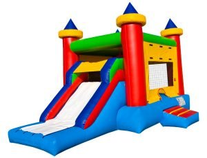 EZ Castle Combo Slide/Bouncer outdoor kids party planning idea,  Bouncehouse, Castle