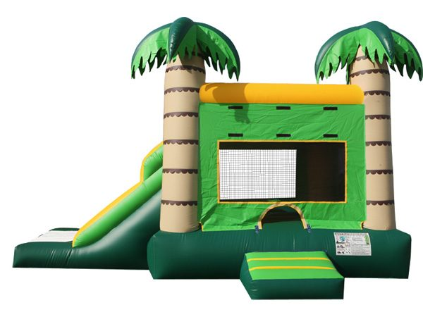 Tropical Slide and Jump Combo for pool party ideas,  Beach, Bouncehouse, Hawaiian, Luau, Spongebob, Tropical