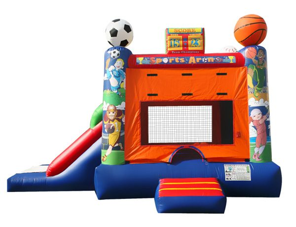 Sports theme inflatable bounce house with slide for kids party ideas Greensboro,  Bouncehouse, Sports
