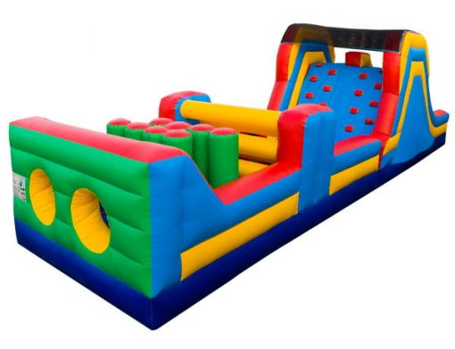 40' Obstacle Course Bouncer Slide Kernersville Winston Salem NC,  Activity, Games, Gladiators, Interactive, Ninja, Obstacle Course