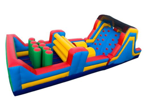 40' Obstacle Course Bouncehouse rental for backyard outdoor party ideas,  Activity, Games, Gladiators, Interactive, Ninja, Obstacle Course