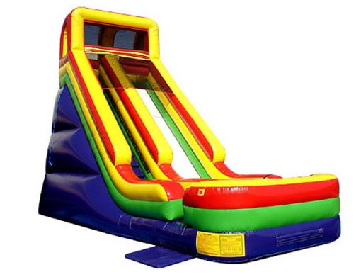 24' Commander Slide Inflatable Moonbounce birthday party activities for kids,  Ball Pit, Inflatable Slide, Single Lane