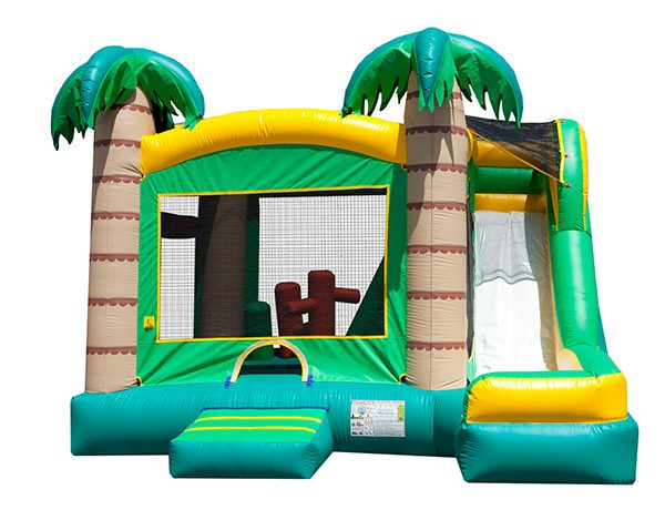 Tropical 5-in-1 Combo Inflatable with Slide Chapel Hill,  Beach, Bouncehouse, Hawaiian, Luau, Spongebob, Tropical