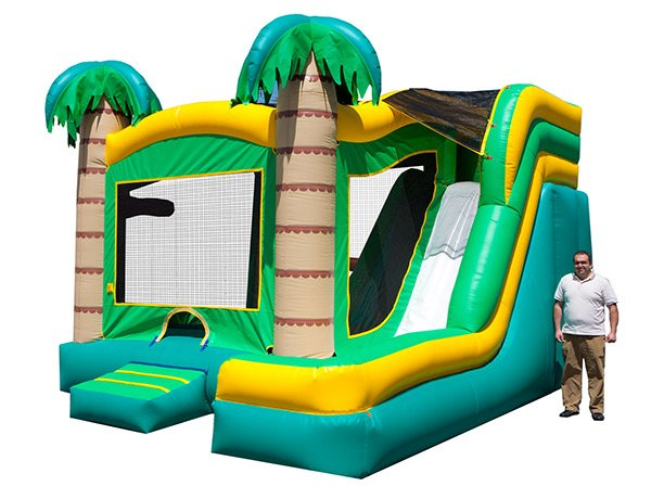 Tropical 5-in-1 Combo Inflatable Bouncer Thomasville,  Beach, Bouncehouse, Hawaiian, Luau, Spongebob, Tropical