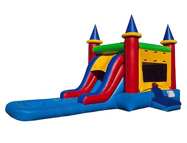 EZ Castle Waterslide Bouncer Greensboro, Liberty, Siler City rental,  Bouncehouse, Castle, Combo, Single Lane, Water Fun, Waterslide