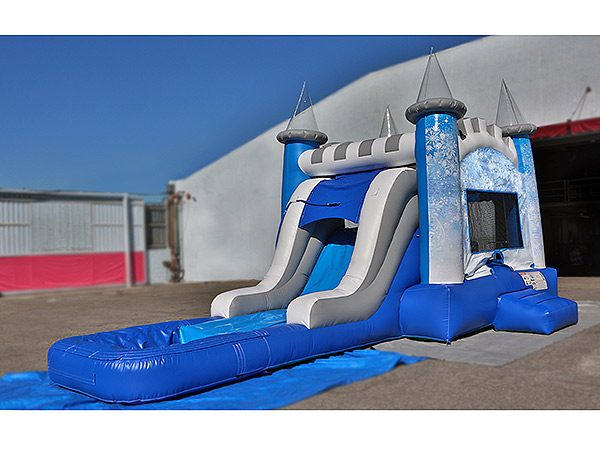 Frozen Ice Castle Wet Combo Bouncer Greensboro,  Bouncehouse, Combo, Disney, Frozen, Single Lane, Water Fun, Waterslide