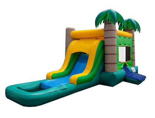 Cool fun in the sun with a waterslide bouncehouse,  Beach, Bouncehouse, Hawaiian, Luau, Spongebob, Tropical
