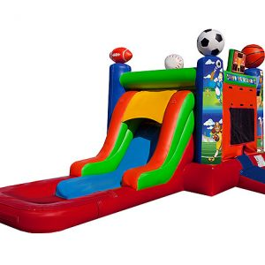 EZ Sport Wet Combo Greensboro, High Point, Kernersville,  Bouncehouse, Single Lane, Sports, Water Fun