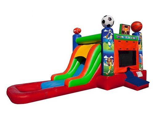 Ideas for Summer Birthday Parties,  Bouncehouse, Single Lane, Sports, Water Fun