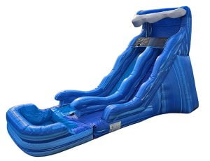 17 Blue Wave Waterslide Inflatable Durham,  Dual Lanes, Inflatable Slide, Water Fun, Waterslide