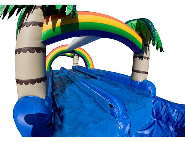 water slide outdoor rental party,  Dual Lane, Inflatable Slide, One-on-One, Water Fun, Waterslide