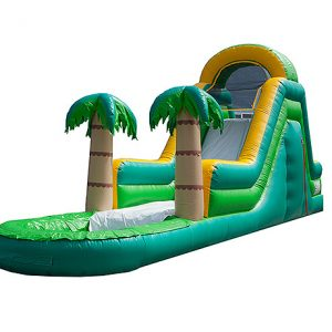 summer water slide fun,  Inflatable Slide, Single Lane, Water Fun, Waterslide