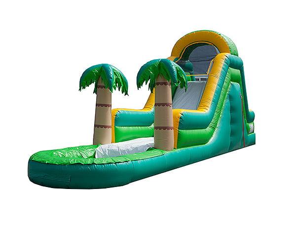 summer water slide fun,  Inflatable Slide, Single Lane, Water Fun, Waterslide