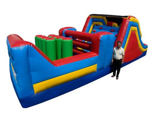 32' Obstacle Course Bouncer For Rent,  Activity, Games, Gladiators, Interactive, Ninja, Obstacle Course