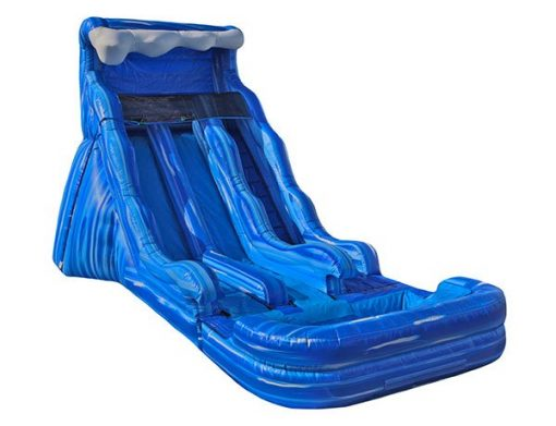 17 Blue Wave Dual Waterslide Inflatable Winston-Salem,  Dual Lanes, Inflatable Slide, Water Fun, Waterslide