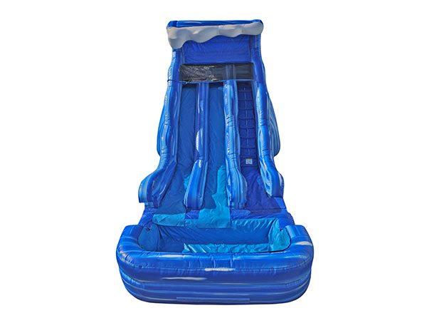 Blue Wave Dual Waterslide 17' bouncer - Burlington,  Dual Lanes, Inflatable Slide, Water Fun, Waterslide