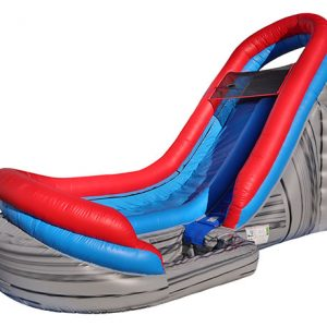 18' Velocity Waterslide Inflatable,  Inflatable Slide, Single Lane, Water Fun, Waterslide