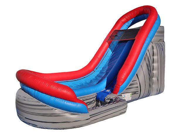 18' Velocity Waterslide Inflatable,  Inflatable Slide, Single Lane, Water Fun, Waterslide