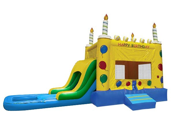 Birthday Cake Bouncer House Kids Fun - Elon, Mebane,  Birthday, Bouncehouse, Bouncer, Cake, Single Lane, Water Fun