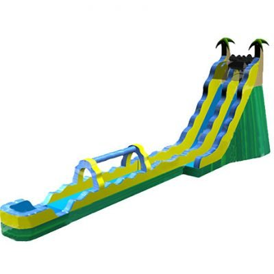 24 Giant Tropical Wave Waterslide Bouncehouse,  Inflatable Slide, Single Lane, Tropical, Water Fun, Waterslide