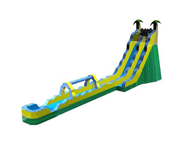 24 Giant Tropical Wave Waterslide Bouncehouse,  Inflatable Slide, Single Lane, Tropical, Water Fun, Waterslide