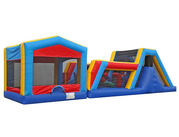 45' Bouncehouse Obstacle Course Rental Greensboro,  Activity, Games, Gladiators, Interactive, Ninja, Obstacle Course