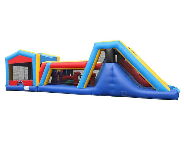 45' Bouncehouse Obstacle Course Rental Winston-Salem,  Activity, Games, Gladiators, Interactive, Ninja, Obstacle Course
