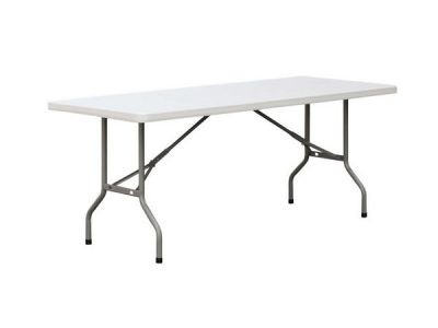 6' rectangular plastic table for rent,