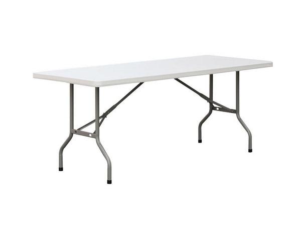 6' rectangular plastic table for rent,