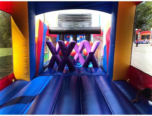 45' Bouncehouse Obstacle Course Rental Elon,  Activity, Games, Gladiators, Interactive, Ninja, Obstacle Course