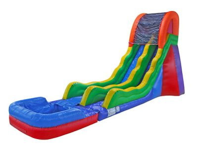 17 Fun Waterslide rental Elon,  Inflatable Slide, Single Lane, Waterslide