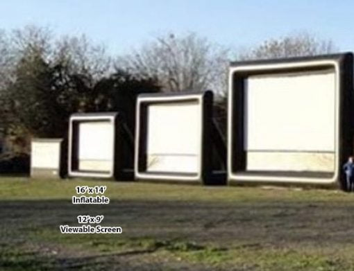 16' Outdoor Movie Screen,  Huge Movie Screen, Inflatable Movie Screen, Outdoor Movie Night